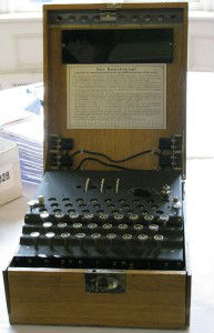 An-Enigma-machine-at-Bletchely-Park-ESP-193x300